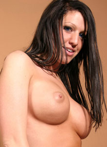 Horny Big Brested Teen Squeezes Her Huge Tits Together - Picture 7
